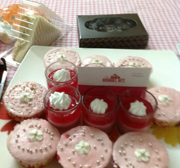 With Strawberry Mousse and Strawberry Cup Cake